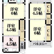 上田8丁 貸家